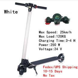 Wholesale Free Tax - Free Tax Upgrade Foldable Smart Electric Scooter Carbon Fiber Skateboard Bike 1.5 W LED Light Lamp Scooter for Children Adult Four Colors