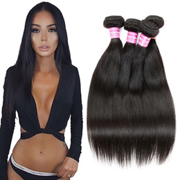 Wholesale Natural Virgin Indian Remy Hair - Brazilian Virgin Straight Human Hair Extensions Brazilian Straight Hair Brazilian Indian Remy Human Hair Weave Bundles Natural Color by Cosy