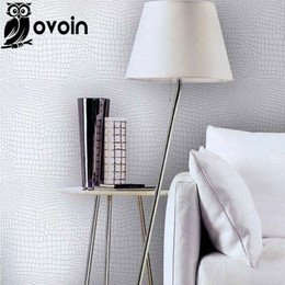 Wholesale Leather Wallpaper White - Faux crocodile skin leather modern pattern Wallpaper for wall White Silver texture glitter vinyl Wall paper luxury Wallcoverings
