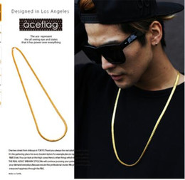 Wholesale Snake Necklace Hiphop - 2017 Fashion Men jewelry Bling Bling Chains hiphop necklace Hip Hop Famous Star Chain Rock Golden Long Snake