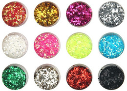 Wholesale Super Glitter Nail Art Tip - Wholesale-Nail Decoration nail glitter used with uv gel sequins Super bright flash powder Powder For Nail Art Tips M545