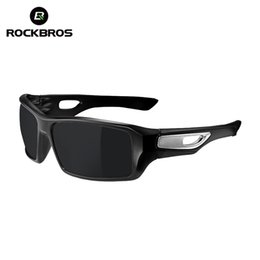 Wholesale Rockbros Polarized Sunglasses - Wholesale- ROCKBROS Cycling Eyewear 4 Colors Bike Polarized Glasses Riding Protection Bicycle Driving Outdoor Sports Sunglasses Goggles