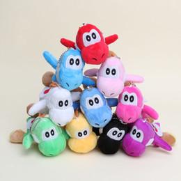 Wholesale Mario Keychain Toys - Hot Sale 10pcs Lot YOSHI 10cm Super Mario Bros Plush Dolls Stuffed Animals Keychain phone & Bag