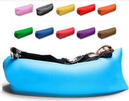 muebles de dhl Rebajas Lounge Sleep Bag Lazy Inflatable Beanbag Sofa Chair, Living Room Bean Bag Cushion, al aire libre Self Inflated Beanbag Furniture 10PCS DHL libre