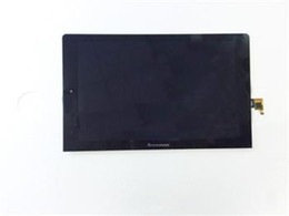 Pantalla táctil para tablet lenovo online-Reemplazo de alta calidad de la asamblea del digitizador de la pantalla LCD de la pantalla táctil de cristal para Lenovo Yoga 10 Tablet B8000
