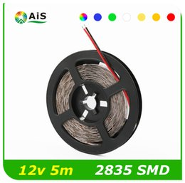 Wholesale Red Tape Sale - Hot sale 2835 SMD LED Strip Light Red 5M 300 Leds Non-waterproof DC12V Flexible RGB LED Ribbon Tape More Brighter Than SMD3528 SMD5050