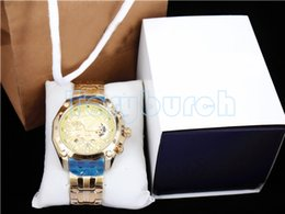 Wholesale Gold Watch Quartz Mens - with full set New Mens Sports EF-550RBSP-1AV Chronograph Black Dial Watch EF-550RBSP-1AV Gent Wristwatch 1 20 Second Stopwatch Function