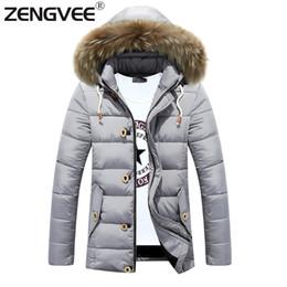 Wholesale Hats Wholes Sales - Wholesale- Men's Jacket Winter Fashion Overcoat 2017 New Arrival Zipper Slim Casual Style Thick Outwear Whole Sale 3 Colors