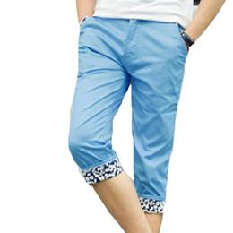 Wholesale fly seven - Wholesale-Summer 2016New Fashion Style Male knee length Pants Good Quality Thin slim casual men seven pants fashion men short pants hot