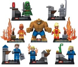 Wholesale Dr Toys - SY167 Building Super Heroes Blocks Dr. Doom magical stones Mr. Silver Surfer Fantastic Four Invisible Women Model Figures Toys