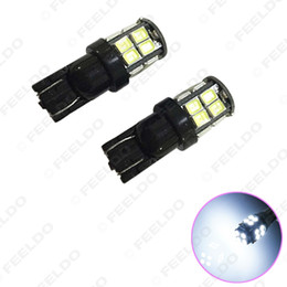 2019 bordo principale dell'automobile FEELDO 40PCS 7-Color 194 168 T10 2835-Chip 20SMD Dual-Elec Board Wedge Car Lampadine a LED # 1413 sconti bordo principale dell'automobile