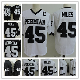 Wholesale Movie Filmed - Boobie Miles #45 Friday Night Lights Movie Football Jersey Permian HS Black White Stitched The Film Dillon Panthers All Sizes S-3XL