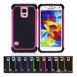 Wholesale S4 Defenders - Galaxy S5 For Samsung Galaxy S3 S4 S5 Note 2 3 Note3 Football skin Heavy Hybrid Armour Duty Defender Hard plastic rubber TPU case cases cove