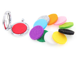 Wholesale Crystal Aromatherapy - 20pcs lot Mixed color trendy Aromatherapy Felt Pads 22mm Fit for 30mm Essential Oil Diffuser Perfume Locket Floating Locket