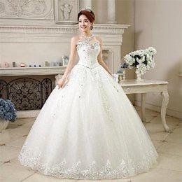 Wholesale Newest Luxurious Wedding Dress - Wedding Dress 2017 Newest Princess Luxurious Crystal Beading Laciness Bridal Gowns Fashion vestido de noiva Sweetheart Neckline