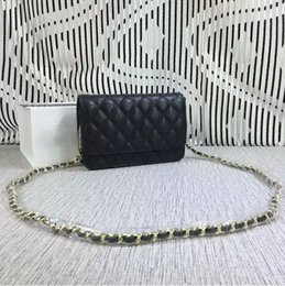 Wholesale 18 Thread - Hot sales mini women Fashion High quality original brand designer handbag Shoulder Bags Caviar Gold chain and silver chain (18 color) #33814