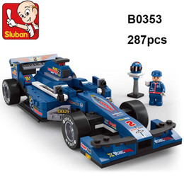 Wholesale Formula Car Model - Lepin Sluban 287pcs Formula Car playmobil model Building Blocks Sets Educational DIY Jigsaw Construction Bricks toys for children