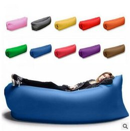 Wholesale 11 Colors Outdoor Inflatable Air Sleeping Bag Portable Sofa Hangout Lounger Air Boat Air Lazy Sofa Camping Beach Hammock CCA5733