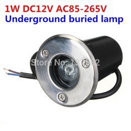 Wholesale Ip67 1w - Wholesale- LED underground lamp DC12V AC85-265V 1W LED Buried Lighting lamp IP67 outdoor decoration underground lamp 6pcs lot, Free Ship