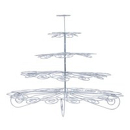 Wholesale Towering Tiers Cake Stand - One Piece Of High Quality 5 Tier Cupcake Tower stand holding 42 cupcakes uesful cake tools