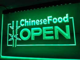 Wholesale Ouvert Led - LK156g- Chinese Food OUVERT OPEN Shop LED Neon Light sign