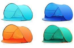 Wholesale Backpacking Tents Sale - Wholesale- Outdoor camping summer beach tent ultralight tent automatic sun shade quick open pop up beach awning fishing tent on sale