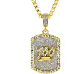 Wholesale shield pendants - hot sale hiphop Flash powder with rhinestone pendant necklace 100 Military shield jesus rhienstone pendant unisex jewelry 3mm*70cm box chain