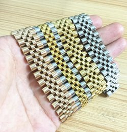 Wholesale Diamond Watch Band Men - luxury brand jewelry watch band crown symbol chain link bracelets for men gifts,stainless steel vbijoux