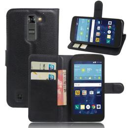 Wholesale Sim Flip Phones - Leather Case For LG K7 X210 X210DS MS330   Tribute 5 LS675   K7 Dual SIM Flip PU Leather Cover Phone bag