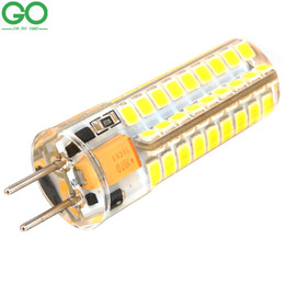 GY6.35 LED Lampadina 12V AC / DC 4W 9W Lampada in silicone 48 SMD 2835 Sostituisci lampade alogene 72 SMD 2835 Corn Chandelier Crystal Lights da