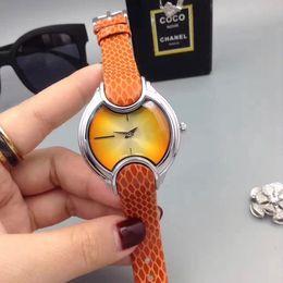 Wholesale Snakeskin Watch - Fashion Ladies watches Luxury brand Dress Snakeskin pattern Leather Strap Quartz replicas watch For women Female wristwatches High quality