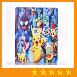 Wholesale pikachu mix - Cute Pikachu tablet PU Leather Cover Flip stand Cover for ipad mini4 123 ipad 234 Air 5 6 Pro 9.7