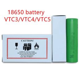 Wholesale Wholesale Lithium Ion Batteries - High quality Lithium rechargeable battery VTC3 VTC4 VTC5 18650 battery,li-ion battery 18650 battery for all kinds of e cigs