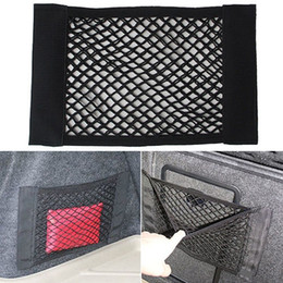 Wholesale Trunk Storage Net - Wholesale-1PC Car Back Rear Trunk Seat Elastic String Net Mesh Storage Bag Pocket Cage