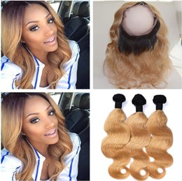 Light Brown Weave Closure Canada   Peruvian Honey Blonde Ombre Virgin Hair  Weaves With 360 Lace