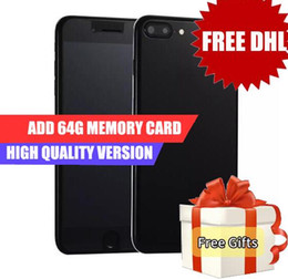 Wholesale Google Cheap Wholesale - Dhl Free goophone i8 plus i7s plus Quad Core MTK6580 1GB 16GB+64GB Android 6.0 4G Lte GPS WiFi 13.0MP Camera cheap china phones