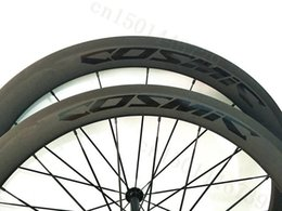 Wholesale Cyclo Cross - Top quality 50mm Clincher Tubular road carbone rim wheel 23mm 25mm width light bike parts also good for cyclo cross bicycle logo OEM