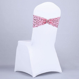 Wholesale Hot Selling Party Chair Cover Buckle Wedding Chair Ties Sashes Sequins Butterfly Cover for Wedding Decoration JM0299
