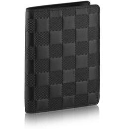 Wholesale Folding Business Cards - Brand New! Many colors James Wallet Browns Mens Damier Infini Leather James purse N63007 popular two bi-fold slender wallets dimensions bags