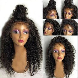 Wholesale Long Lace Front Wigs Cheap - Charming Cheap Natural Wigs Black Afro Kinky Curly Long Wigs for Black Women Heat Resistant Synthetic Lace Front Wigs with Baby Hair