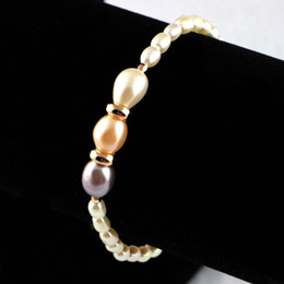 Wholesale Sports Bracelets For Women - 2017 new Natural Freshwater Pearl Bracelet Fashion Jewelry Long Simple Charm Bohemian Ethnic Bracelets for Women wholesale free shipping