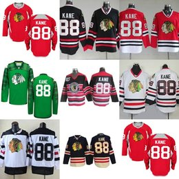 Hot Sale Mens Womens Kids Chicago Blackhawks 88 Patrick Kane Red Black  Green White Best Quality Embroidery Logos Ice Hockey Jerseys a0aebde21