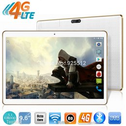 Wholesale Screen For Tablet Gps - Wholesale- Hot New 9.6 inch tablet 3G 4G LTE Phone Call Octa Core 4GB RAM 32GB ROM Android 5.1 OS 1280*800 IPS Screen GPS tablet for kids