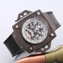 Wholesale Center Square - 2017 latest version of the silicone strap sports brand military men wathes center clock calendar reloje man watches the freedom of man's lei