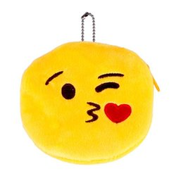 Wholesale Smile Wallet - Wholesale- Womens Wallet Cute Style Novelty Smile Zipper Plush Emoticon Round Coin Purse Children Bag New Mini Change Pouch Bolsa gift 2017