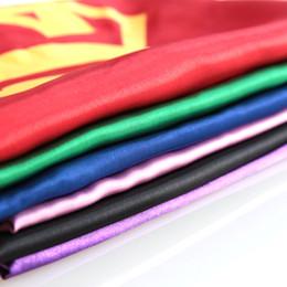 Wholesale Super Hero Clothing - Kids Superhero Style Children's 70*70 cm Black Superhero Cape With Masks Kids Party Dress Clothing Costume Free Shipping