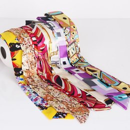 Wholesale Embroidery Silk Scarves - 2017 New Silk Scarves of Lady Bag Beautiful Embroidery Long Silk scarf women Bag accessories Colored scarves