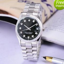 Wholesale Couple Watches Automatic - 2017 Top Brand mechanical famous watches aaa diamond luxury stainless automatic date white men black women couples Fashion homemade gift box