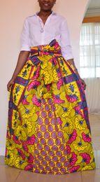 Wholesale Flower Cocktail Dress - 2017 Three colors African Women Boho Flower Dashiki Dresses Cocktail Clubwear high waist Pleated Skirt National characteristic Maxi Dress