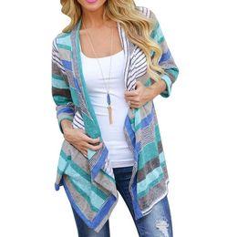 Wholesale Womens Crochet Jacket - Wholesale-Boho Womens Long Sleeve Cardigan Outwear Knitted Jacket Coat Tops Loose Sweater 2016 Summer Spring Free Shipping